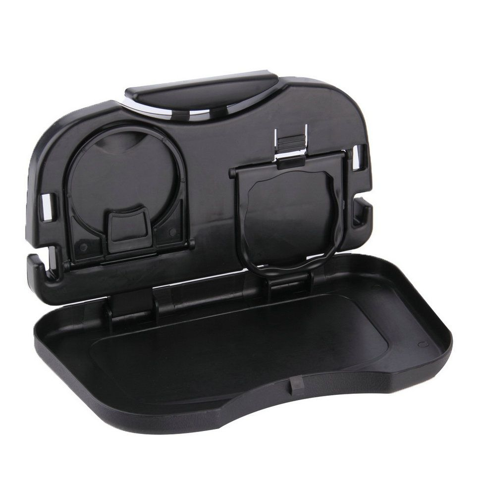 Car Tray Food Car Stand Rear Seat Beverage Rack Water Drink Holder Bottle Travel Mount Accessory Foldable Meal Cup Desk Table