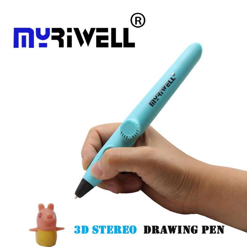 Myriwell RP-200A 3d pen low temperature Protection Using PCL material Free Filament for Kid Gift Toy 5V 2A USB 3D Pens 3 Color