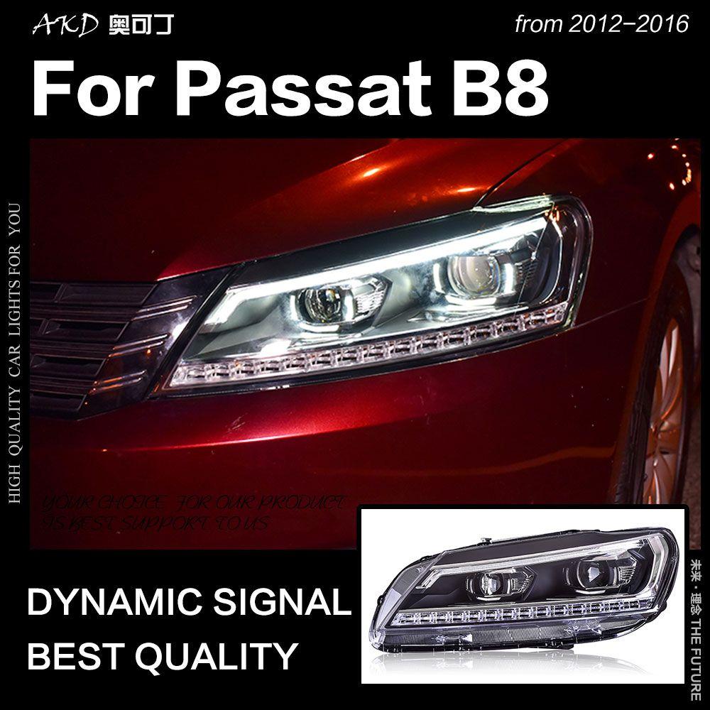 AKD Auto Styling für VW Passat B7 Scheinwerfer 2012 Passat UNS LED Scheinwerfer DRL Hid Kopf Lampe Engel Auge Bi xenon Strahl Zubehör