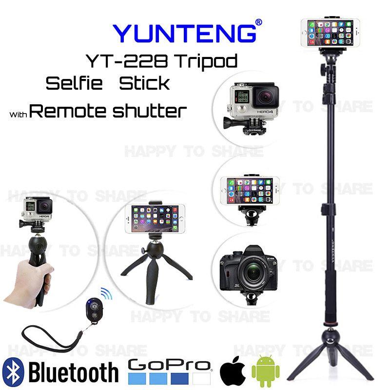 Extend Monopod Self Photo/Video Camera Bluetooth YUNTENG Tripod Selfie Stick For Samsung S7 S6 Edge Plus Note 8/For Sony M4 Z3 Z