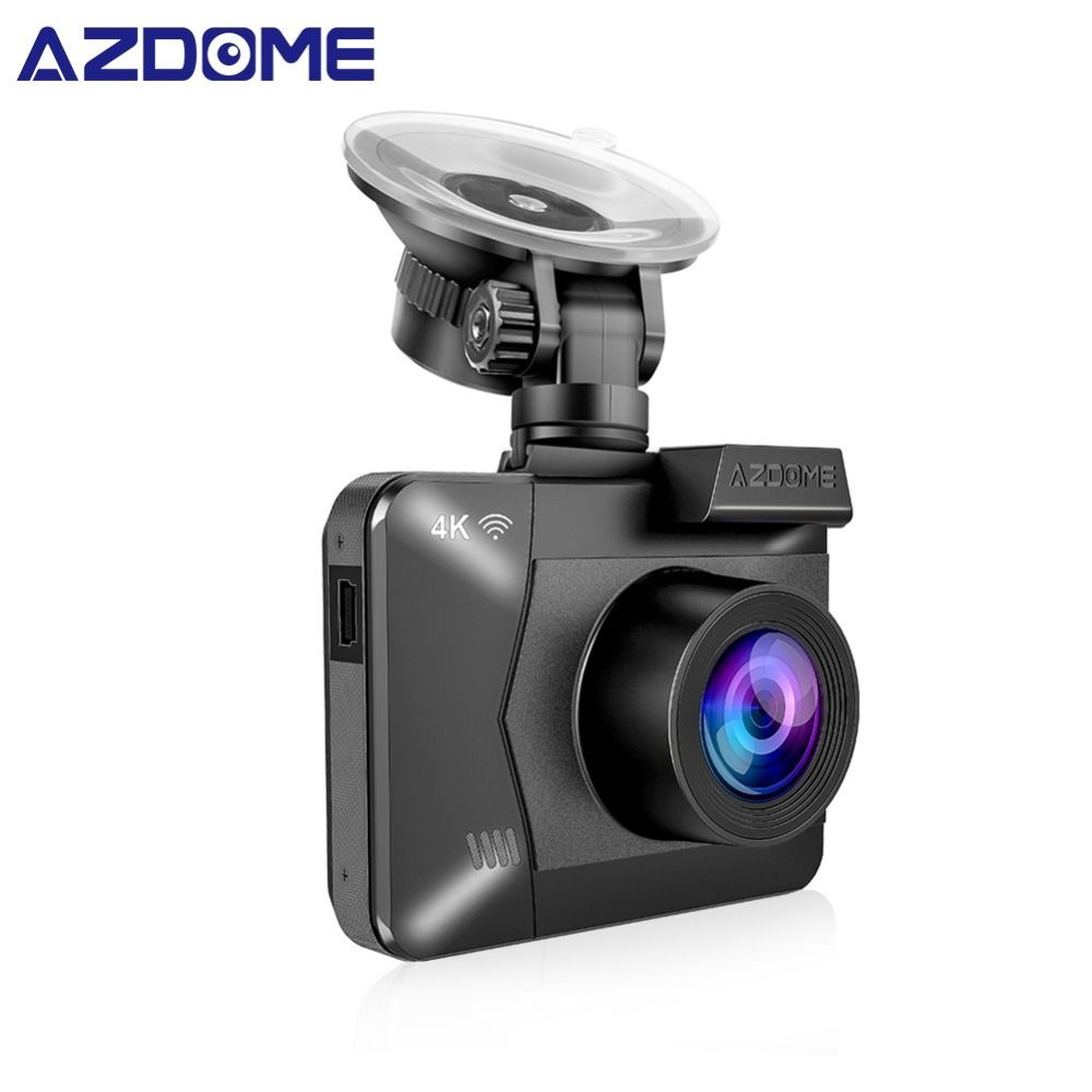 AZDOME M06 WiFi Built in GPS Dual Lens FHD 1080P Front + VGA Rear Camera Car DVR Recorder 4K Dash Cam Dashcam WDR Night Vision