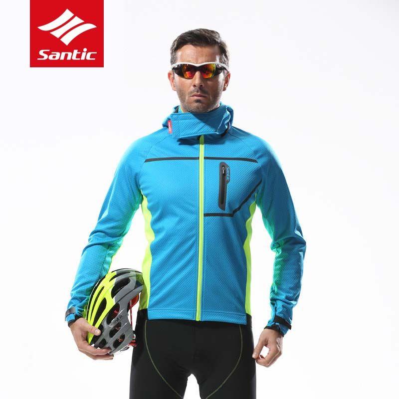 Santic Radfahren Jacke Männer Abnehmbaren Kappe Winter Herbst Halten Warme Fleece Thermische Kapuze Fahrrad Jacke Fahrrad Kleidung Ciclismo