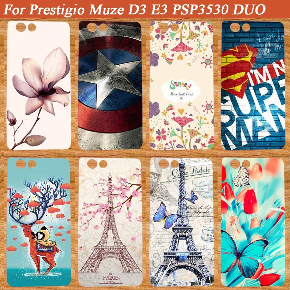Haute Qualité TPU Téléphone cas pour Prestigio Muze D3 DIY Peint cas Couvre Pour Prestigio Muze D3 PSP3530 DUO 3530Duo