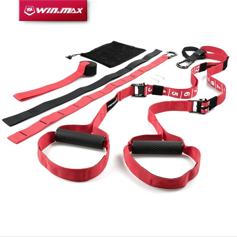 WIN.MAX Crossfit Fitness Strength Training Resistance Bands Adjustable Exerciser Suspension Trainer Hanging Trainning Strap