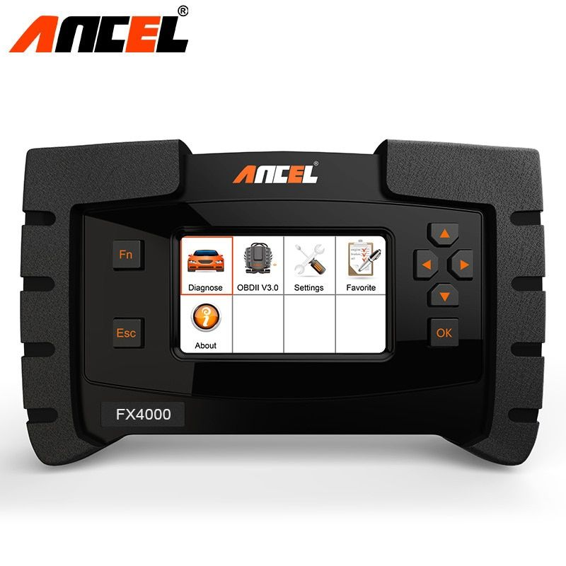 Ancel FX4000 OBD2 Diagnostic Tool Car Full System Engine ABS Airbag SRS EPB Transmission Data Flow OBD Car Diagnostic Tool