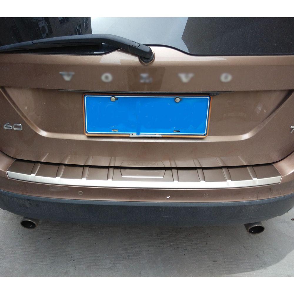 FIT pour 2014 2015 2016 2017 VOLVO XC60 protecteur de pare-chocs arrière panneau de protection de botte plaque de seuil accessoires de garniture de coffre