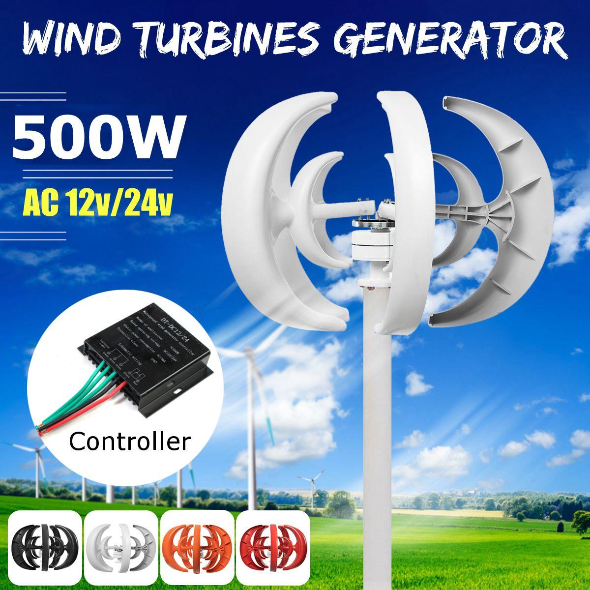 Wind Turbine 500 watt DC 12/24 v Kombinieren Mit 600 watt Englisch Wind Generator Controller Hause Für Hause hybrid Straßenbeleuchtung Verwenden