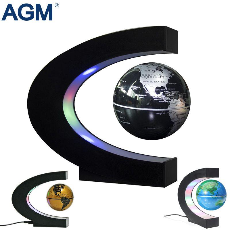 LED Floating Tellurion Globe Desk Home Decoration Magnetic Levitation Desk Lamp Globe World Ball Ornaments Light For Kid Gifts