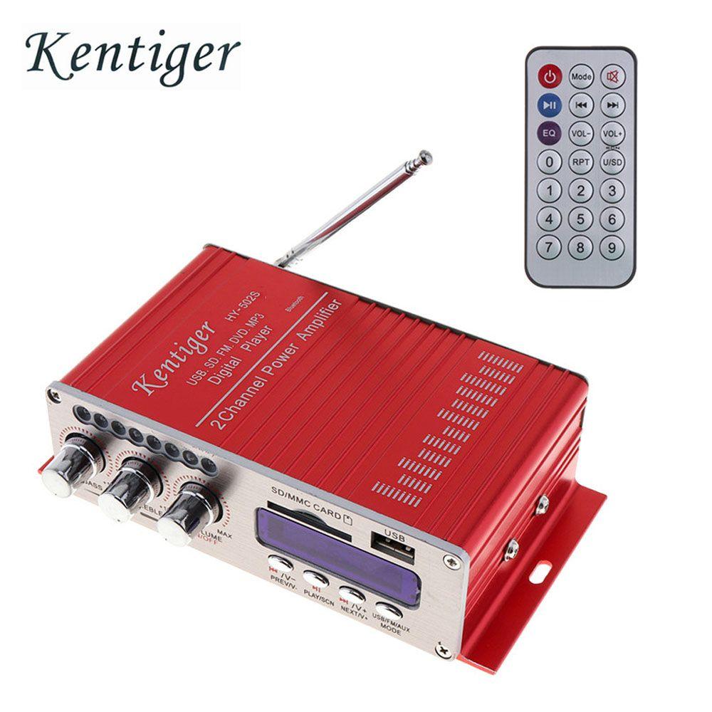 12V 2CH HIFI Bluetooth Digital Car Power Amplifier FM Radio Stereo Audio Music Player SD USB MP3 DVD Input for Auto Motorcycle