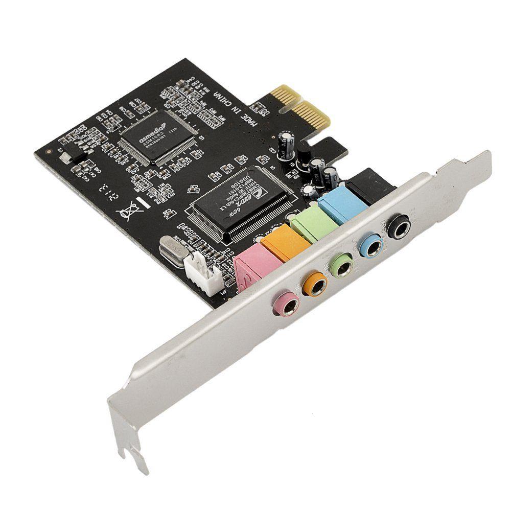 PCIe 5.1ch звуковая карта конвертер адаптер/PCIe-Express разверните добавить на Поддержка карт для ПК компьютер/Desktop бесплатная доставка
