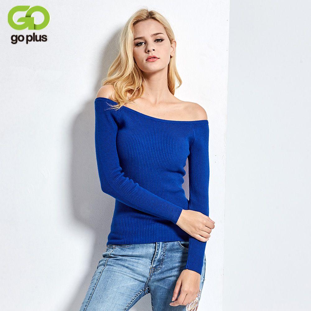 Free Shipping Autumn and Winter basic Women Sweater slit neckline Strapless Sweater thickening sweater top thread slim C0320