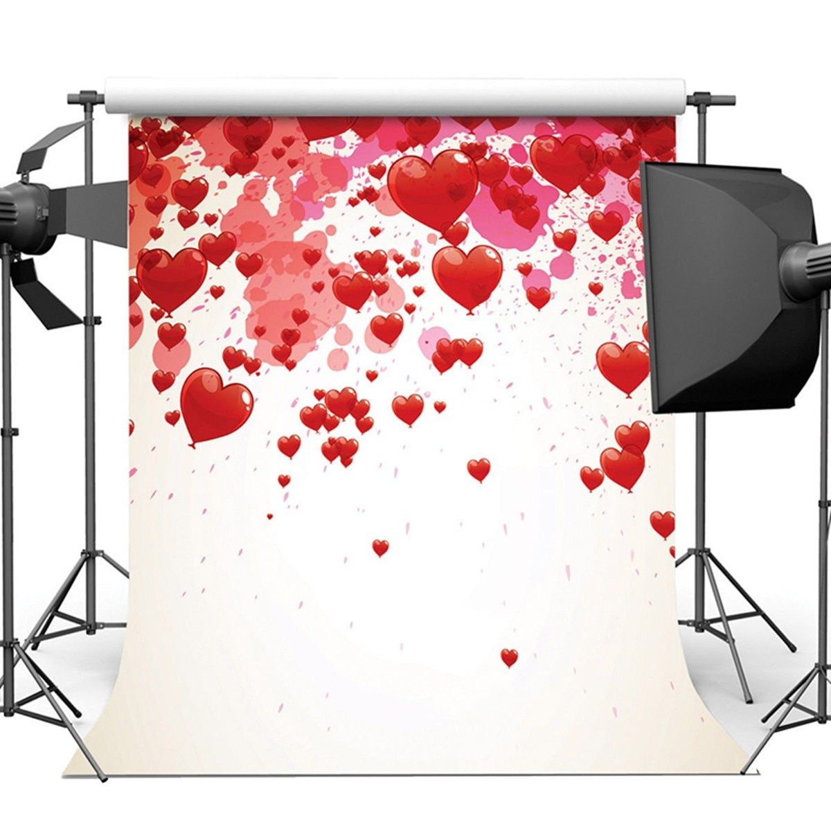 8X8FT Vinyl Love Heart Photography Background Studio Backdrop Wedding Photo Prop 2017 New Arrival