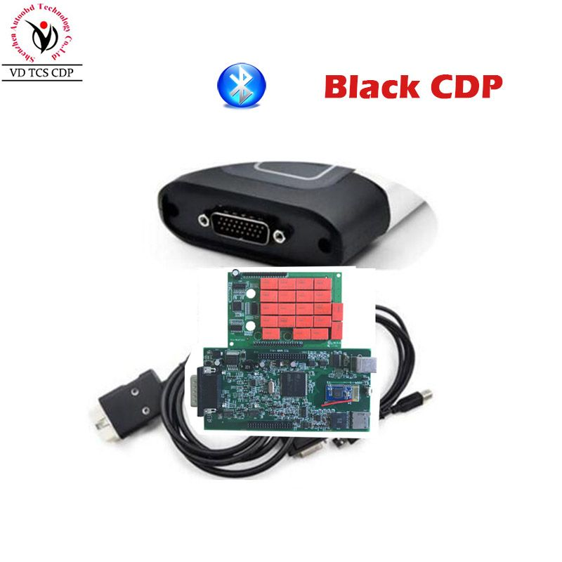 Quality A+ Black VD TCS CDP Pro Plus 2016.R0/ 2015.R3 Software Two PCB Board V8.0 Serial .No100251 Free Activate for Cars Trucks