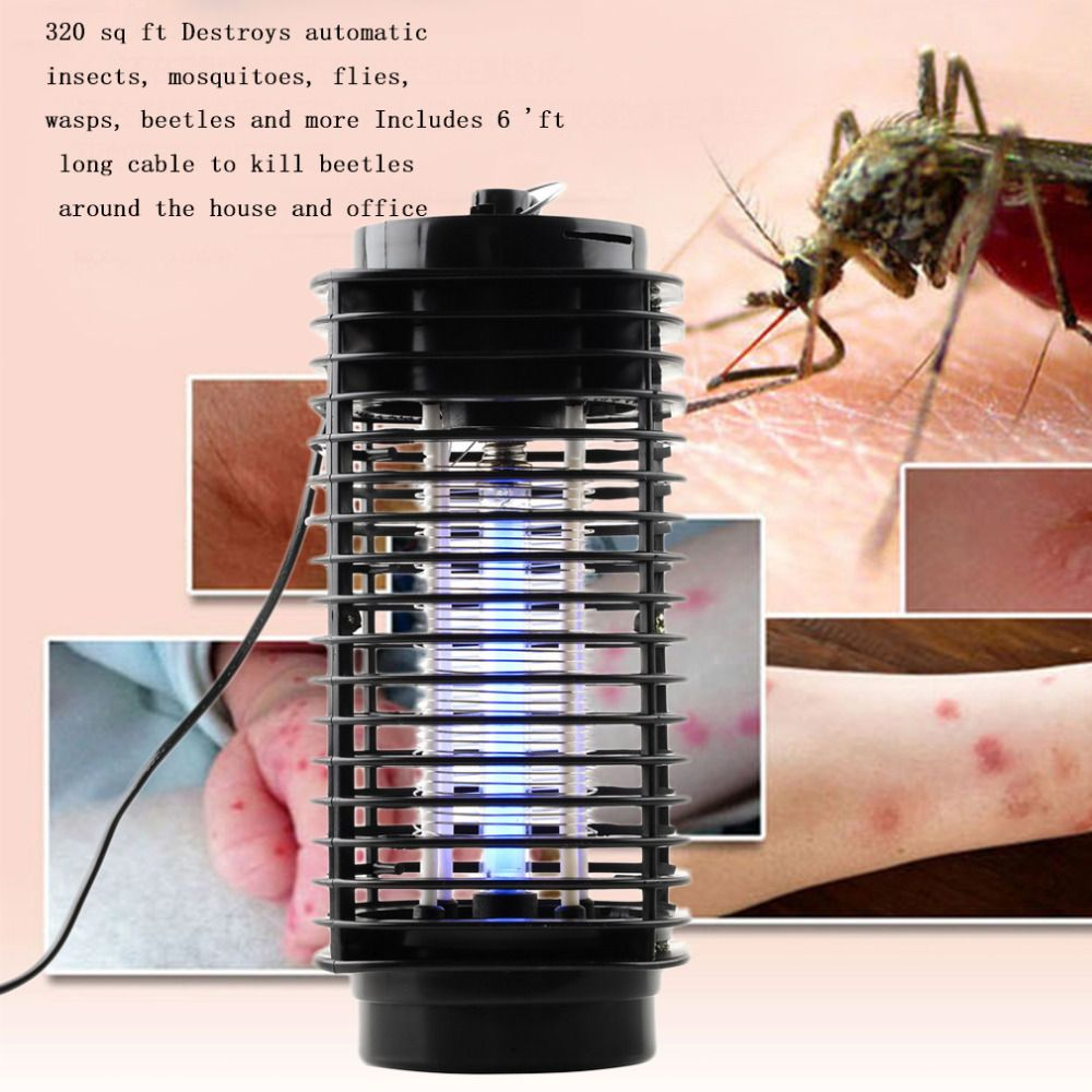 Hot Modern Design Bug Zapper Mosquito Insect Killer <font><b>Lamp</b></font> Electric PMoth Wasp Fly Mosquito Killer 110V/220V New