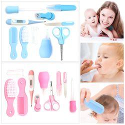 10 Pcs Safety Nailcutter untuk Newborn Rambut Kuku Kaki Alat Ukur Kuku Perawatan Kesehatan Bayi Set Anak Grooming Kit produk