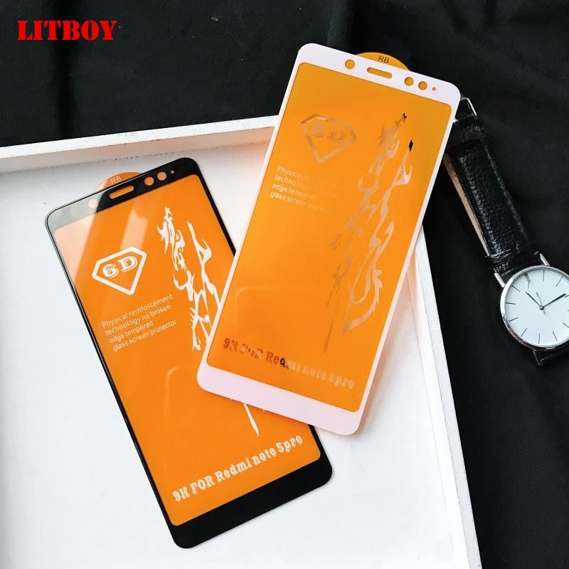 6D Full Cover Tempered Glass For Xiaomi Redmi Note 5A 5 S2 Screen Protector Film For Redmi 5 Plus 5A Note 5 5A Protective Glass