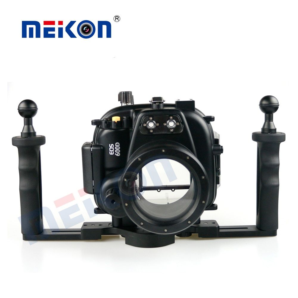 40M 130FT Waterproof Underwater Camera Housing Case Cover Bag for Canon EOS 600D T3i Camera + Two Hands Tray