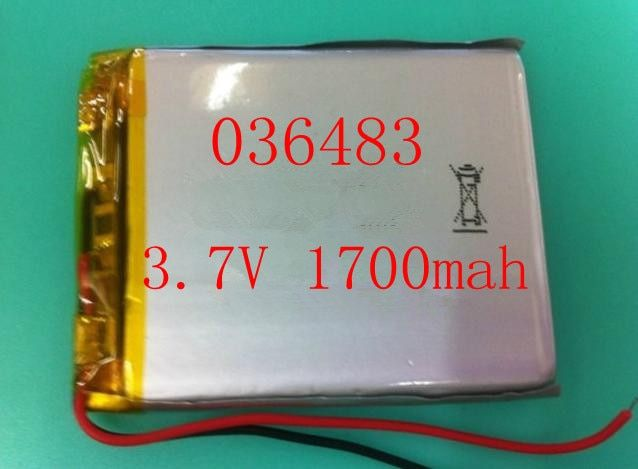 Size 306483 3.7V 1700mah Lithium polymer Battery with Protection Board For MP4 PSP GPS Digital Product Free Shipping