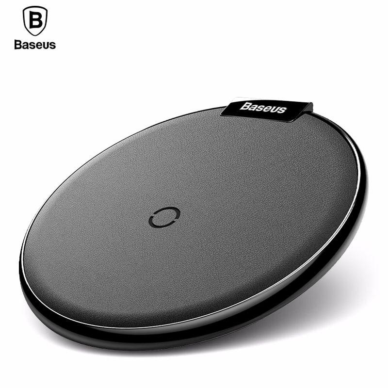 Baseus Qi Sans Fil Chargeur Pad Pour iPhone 8 X Samsung Note 8 Charge Rapide Mobile Téléphone De Bureau Sans Fil De Charge Dock Station