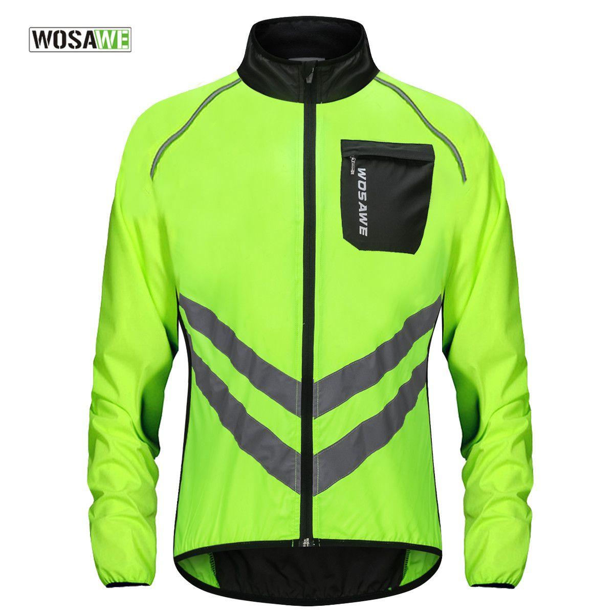 WOSAWE cyclisme vent veste haute visibilité multifonction Jersey route vtt vélo vélo coupe-vent séchage rapide pluie manteau coupe-vent