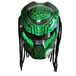 Vcorcs Predator fibra de carbono diablo full face casco demonio noche personalidad artesanía moto casco dot aprobar
