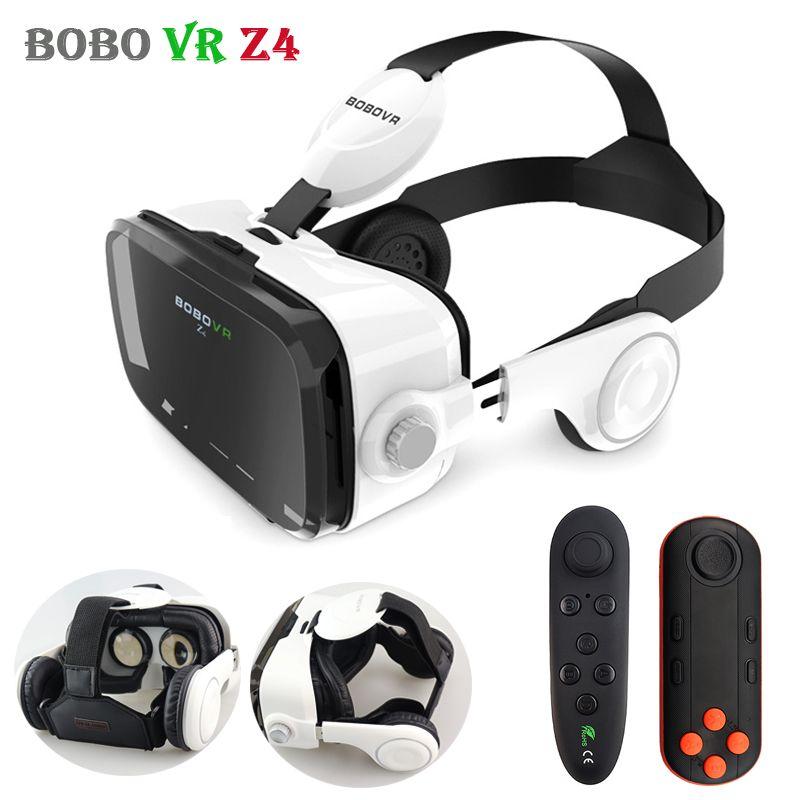 Original BOBOVR Z4 Leather 3D Cardboard Helmet Virtual Reality VR Glasses Headset Stereo Box BOBO VR for 4-6' Mobile Phone