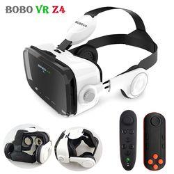 Original bobovr Z4 cuero 3D casco de cartón Realidad Virtual VR Gafas estéreo caja Bobo VR para 4-6 'caja móvil teléfono