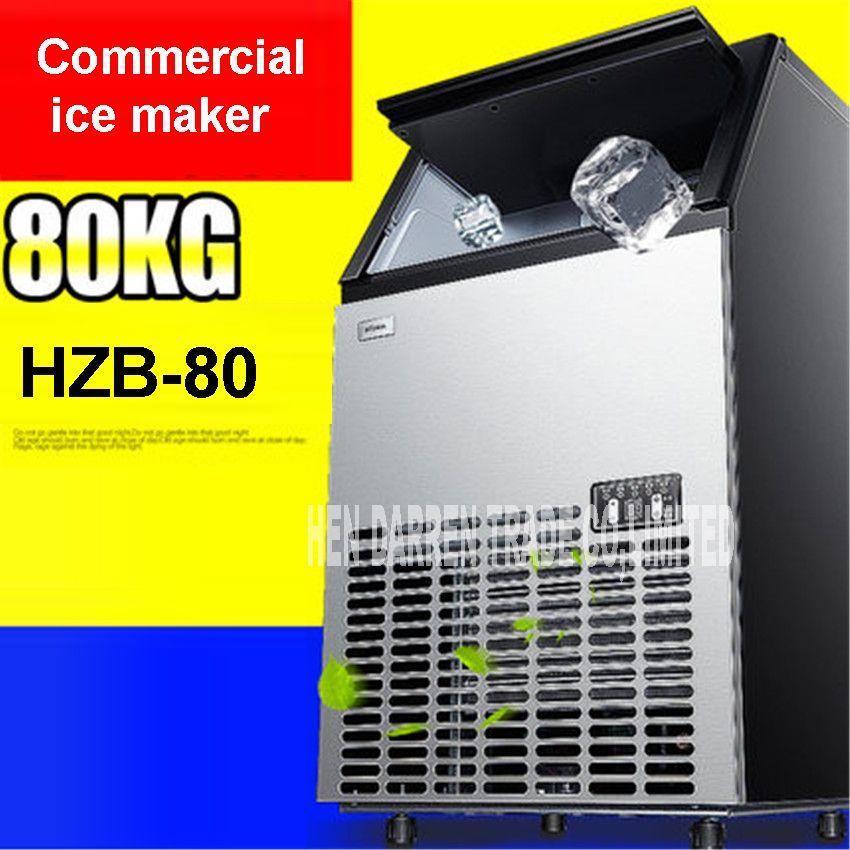 80kgs/24 H Automatische Eismaschine, HZB-80 Ice Cube Familie, Der Maschine Für Kommerziellen Verwenden Für Kaffee Shop Bar HEIßER 330 watt/410 watt
