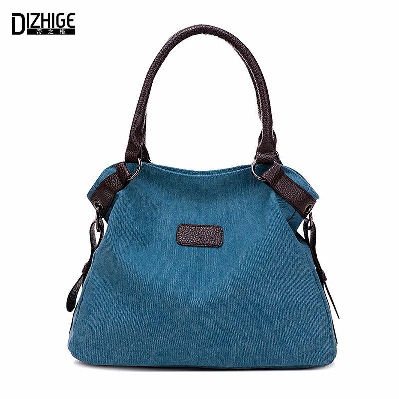 Vintage Canvas Bag Women Designer Handbags High Quality Tote Bag <font><b>Ladies</b></font> Shoulder Hand Bag Bolsos Sac A Main Femme De Marque 2016