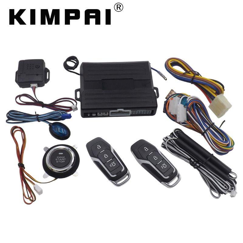 KIMPAI 9007 PKE Car Keyless Entry System For Ford Engine Start/Stop Push Button 12V 40mA Universal Central Door Locking