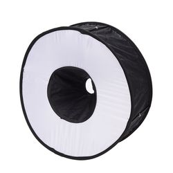 Newest Portable 45CM Round Flash Diffuser Universal Folded Magnetic Ring Flash Diffuser Softbox for Macro Portrait Photography