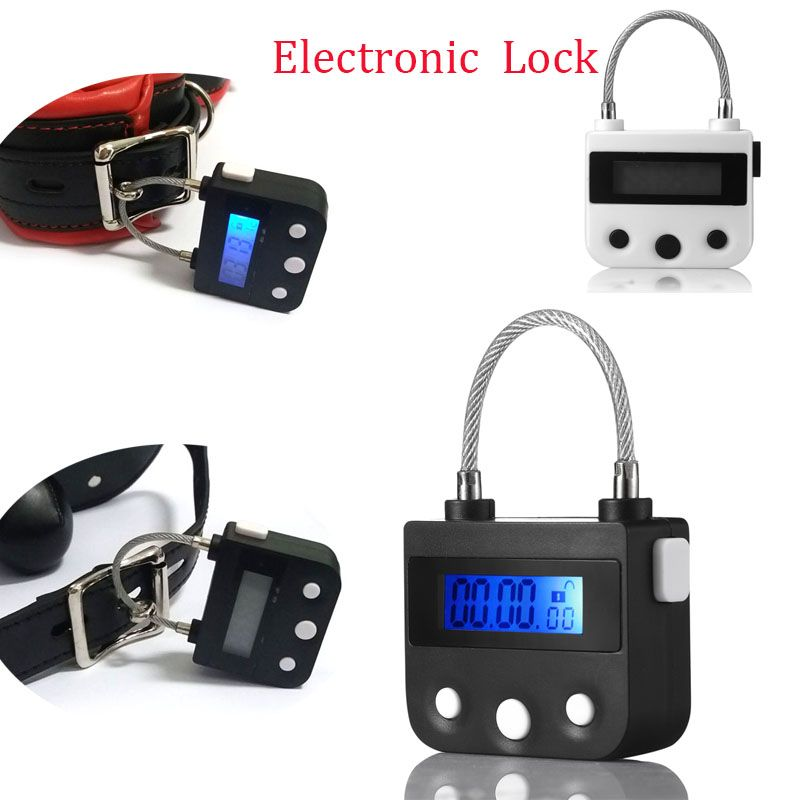 Electronic Bondage Restraint Lock BDSM Fetish Handcuffs Mouth Gag Chastity Device Rechargeable Timing Switch Sex Toys For <font><b>Couple</b></font>