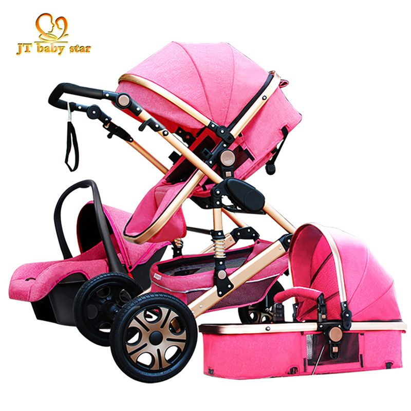 HK Eurpole high landscape baby stroller luxury 3-in-1 trolley luxury strollers effectively reduce the vibration umbrella car