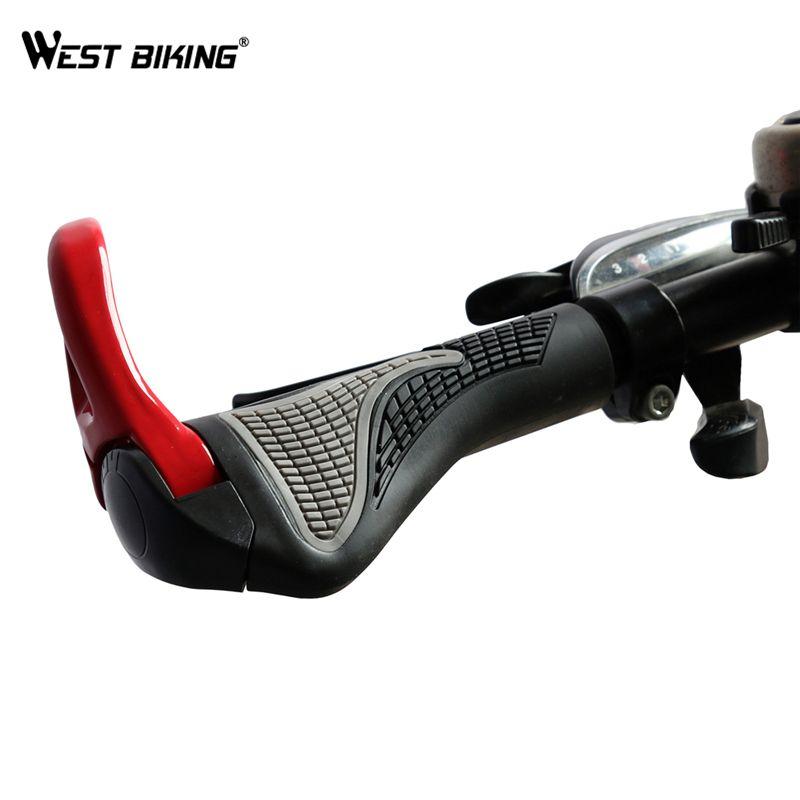 Poignées de vélo vtt WEST poignées de vélo ergonomiques antidérapantes embouts de guidon de vélo poignées de vélo en caoutchouc