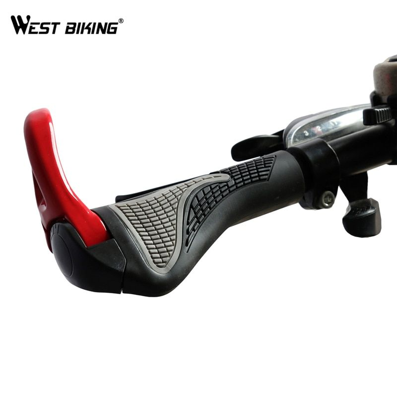 WEST BIKING MTB Bike Grips Anti-Skid Ergonomic Bicycle Grips Bike Bar ends Handlebars Rubber Push On Bicycle Parts Cycling Grips