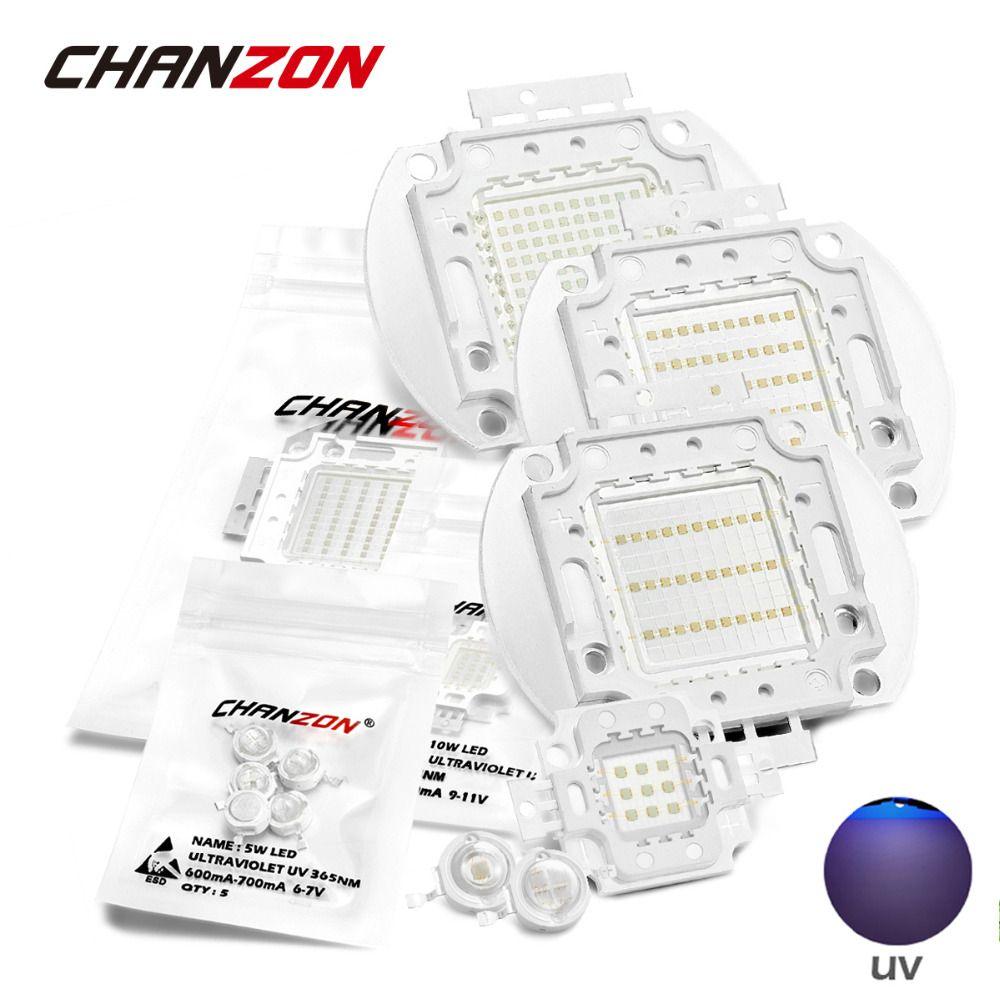 UV Purple LED Integrated Chips 365nm 375nm 385nm 395nm 400nm 405nm High Power COB Ultraviolet Lights 3W 5W 10W 20W 30W 50W 100W