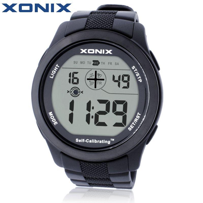XONIX Self Calibrating Internet Timing Men Sports Watches Waterproof 100m Digital Watch Swimming Diving Wristwatch Montre Homme