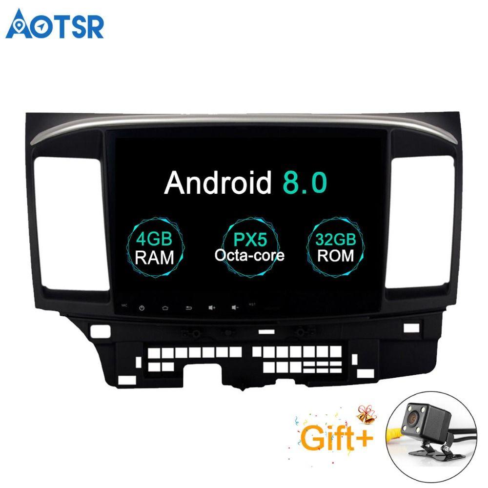 Aotsr Android 8.0 Auto GPS-Player für Mitsubishi Lancer mit 4g + 32g Octa Core Auto Stereo Navi Radio multimedia 2 din bluetooth