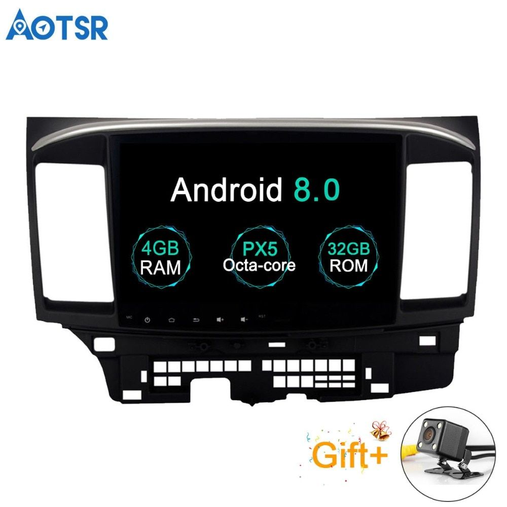 Aotsr Android 8.0 Car GPS Player for Mitsubishi Lancer with 4G+32G Octa Core Auto Stereo Navi Radio Multimedia 2 din bluetooth