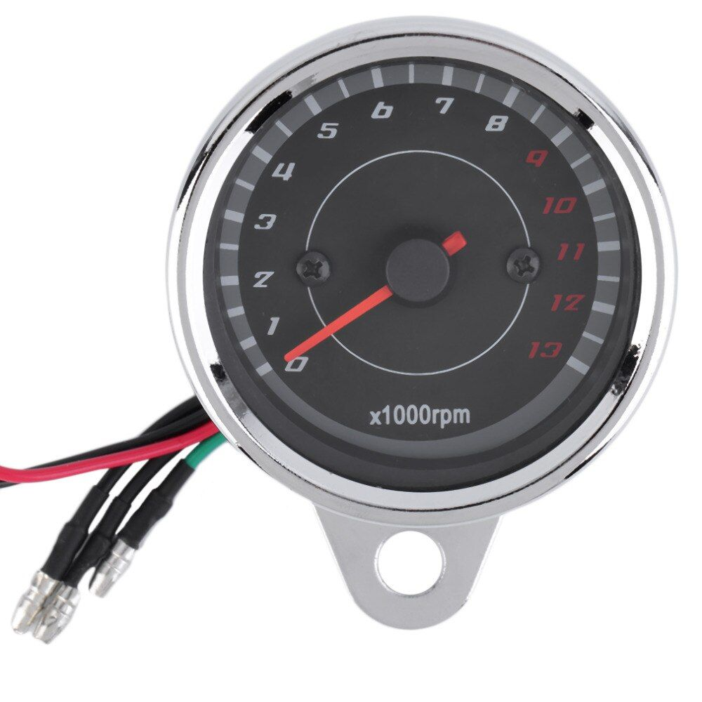 Universal Motorcycle Tachometer Gauge Motorbike Backlight LED 12V Tachometer Speedometer Tacho Gauge New Hot Drop Shipping