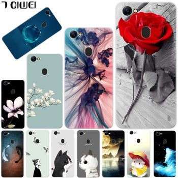 For OPPO F7 Case Silicone Cute Fish Animal Clear Phone Case For OPPO F7 Cover TPU Soft Flower Cat For Fundas Oppo F7 F 7 Oppof7