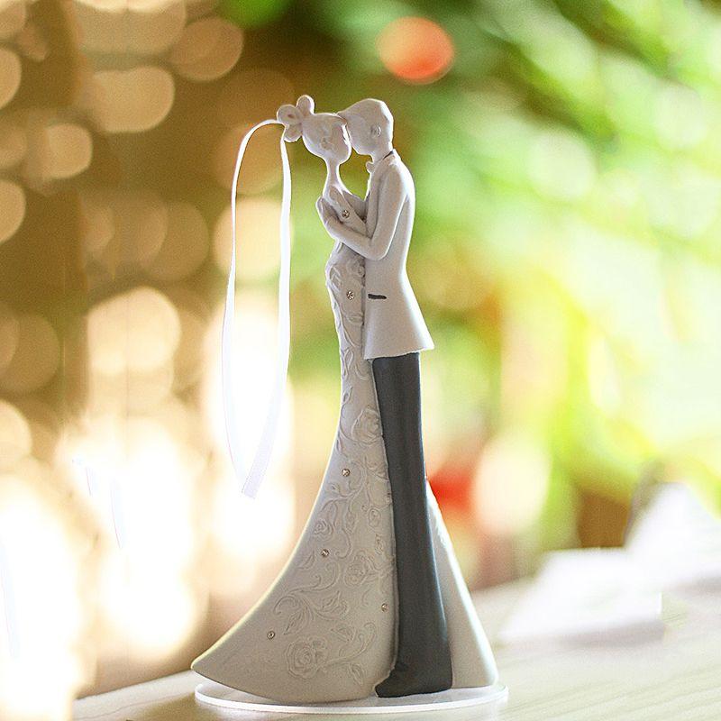 Braut Und Bräutigam Hochzeit Kuchen Topper Harz Sprache Der Liebe Geschenk Kuchen topper Hochzeit Dekoration topo de bolo casamento Casamento