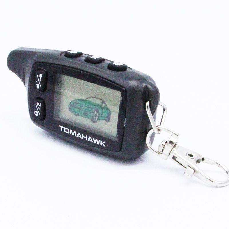 Free shipping 2-way LCD Remote For Tomahawk TW9030 Two way car alarm system car Keychain Tomahawk TW 9030