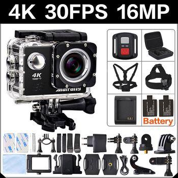 4 K 30FPS 16MP WIFI Action Kamera 2 zoll Sport HD 1080P 60fps Cam unterwasser deportiva gehen wasserdicht 4 K 170D mini pro sport Cam
