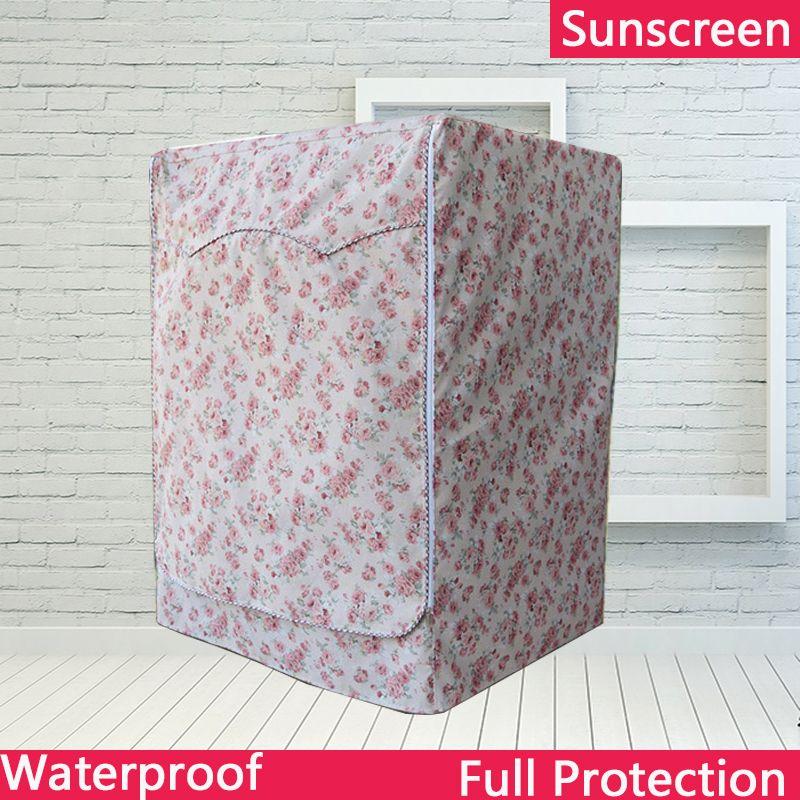 Couverture imperméable de protection solaire de revêtement d'argent de Polyester pour la Machine à laver couverture de passeport d'oxford cubierta lavadora copri lavatrice