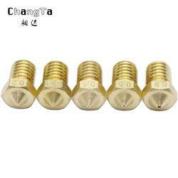 CHANGTA 5pcs/lot 3D printer nozzle V6 V5 j head brass nozzle 0.2 0.3 0.4 0.5 0.8mm For 1.75mm Filament Extruder nozzle