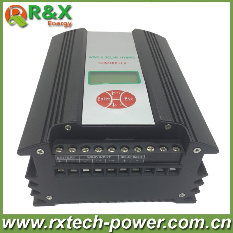 600W wind and solar hybrid controller for max 900w wind turbine and 300w solar panel with LCD display 24V and 48V optional