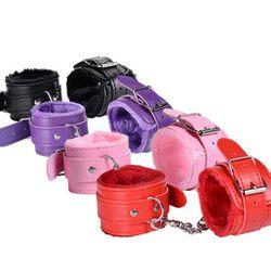 Сексуальный регулируемый искусственная кожа плюшевые наручники лодыжки манжеты БДСМ секс-игрушка для бондажа ограничения Секс Связывание...