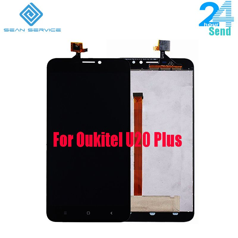 For Original Oukitel U20 Plus Original LCD Display+Touch Screen <font><b>Digitizer</b></font> AssemblyU20 PLUS Quad Core 5.5 Inch Phone LCD Display