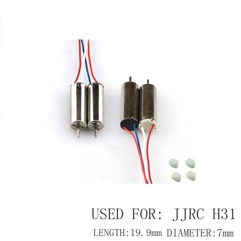 4pcs Motors For Jjrc H31 Watreproof Drone Spare Parts 2pcs Cw 2 Pcs Ccw Motor Rc Quadrocopter Drons Engines Kits